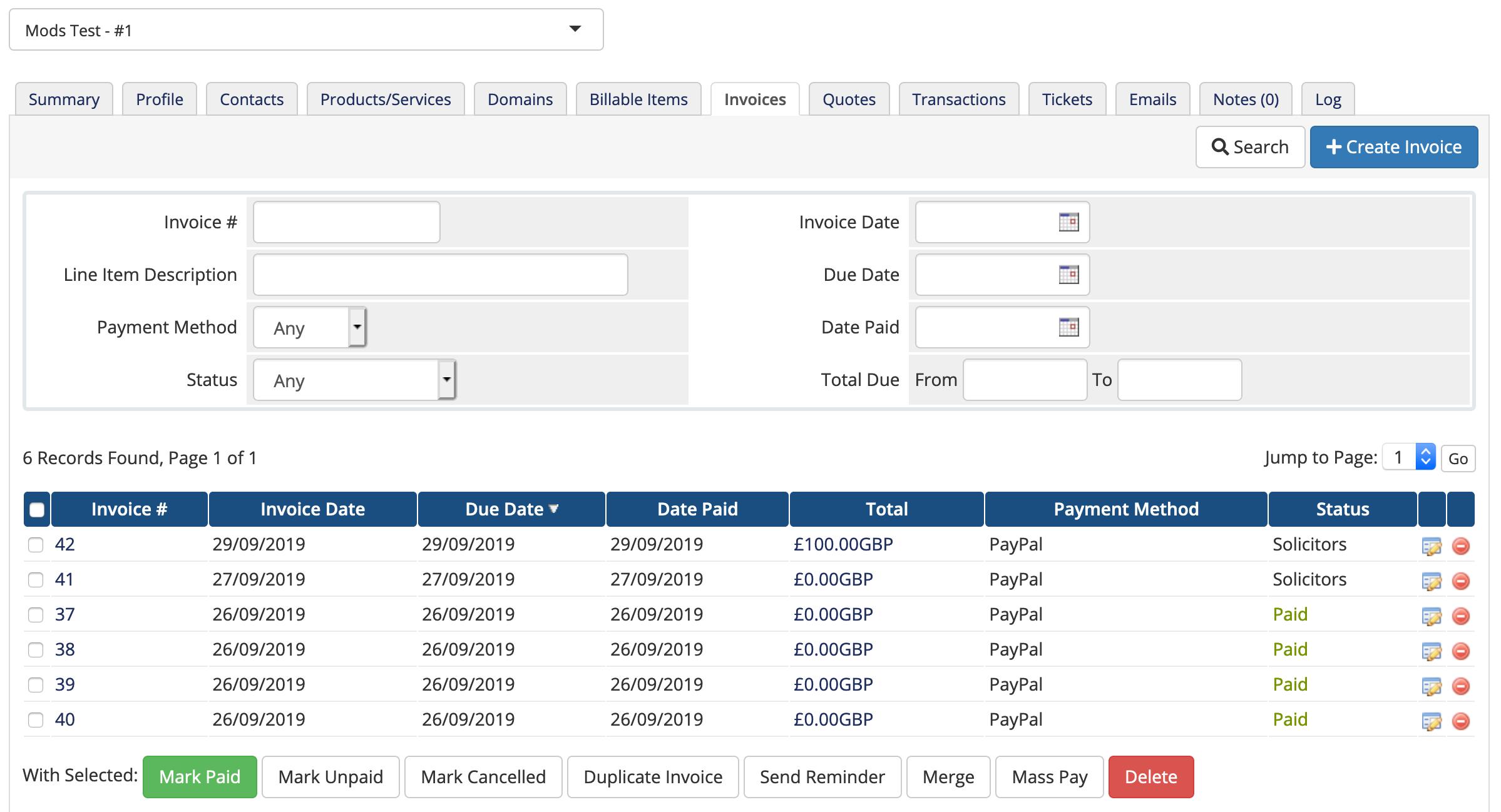 Custom Invoice Status Whmcs Mods